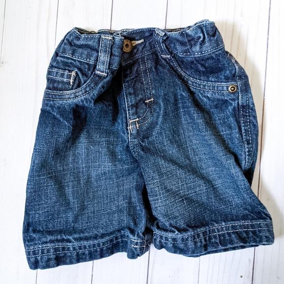 Wrangler Baby Boys Blue Jean Shorts 12 Mo